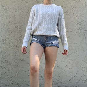 Good Quality Cable Knit Sweater w/ Sparkles
